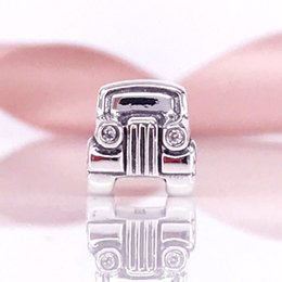 Wholesale Pandora Car - Wholesale 925 Sterling Silver Car With Clear & Red CZ Charms Beads Fit Pandora Snake Chain Bracelet And Necklace DIY Fashion Jewelry 790405C