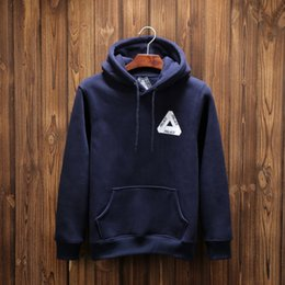 Wholesale New Autumn Winter Coat - New PALACE Hoodie Black Navy White Men Palace Skateboard Hoodie Hooded Pullover Sweatshirt Coat Autumn Winter Fleece Hoodies Outwear YBF0906