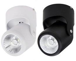 Клиновое крепление онлайн-Завод горячей продажи Затемняемый супер новые 10 Вт Белый shell/черный shell COB поверхности светодиодные вниз свет круглый COB светодиодные пятно света AC85-265V