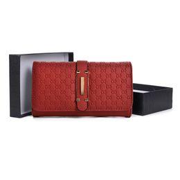 Wholesale Korean Ladies Long Dresses - OL Business Lady Clutch Bag Wallets Holders Gift Box Women Hasp Phone Bag Credit Card Package Multi-bit PU Leather VKP1467
