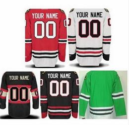 Blackhawks personalisiertes jersey online-Neue Ankunft Chicago Blackhawks personifizierte kundengebundene Jerseys mit Ihrem Namens- und Zahlgewohnheit genähten Jersey-HockeyJerseys