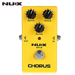 Wholesale Nux Pedals - NUX Classic Analog Chorus Guitar effects pedal Chorus guitarra effects embellishment for tone true bypass free shipping