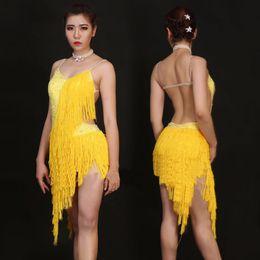 Wholesale Sexy Costumes Schoolgirl - 2017 Girl Latin Dress Sexy Tassel Skirt Dancewear For Children Newest Beauty Kid Student Schoolgirl Ballroom Dance Costumes 1191