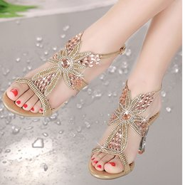 Wholesale Gold Diamond Sandals - 2016 Spring and Summer designer shoes sandals diamond thick with high with fish mouth set auger lady sandals