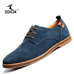 Wholesale Wholesale Fashion Plus Size Shoes - Wholesale- ZOCN Plus Size 38-48 Fashion 2017 Men Oxford Shoes Cow Split Leather Shoes Men Flats Casual Shoes Black Zapatos Hombre 10 Colour