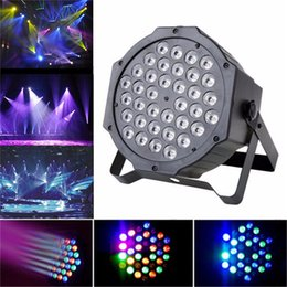 Led rgb par can online-36 LED RGB PAR CAN DJ Stage DMX Lighting para fiesta de discoteca Wedding Uplightingb