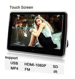 Wholesale Touch Screen Headrest Monitors - with touch screen New 2016 10-inch Hanging Behind the headrest TFT Led Car Headrest DvD Player Headrest Monitor Auto Accessories