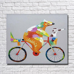 Wholesale Hand Painted Oil Painting Reproductions - Chinese manufacture oil painting factory 100% hand painted reproduction cartoon oil painting for kids room Canvas Wall Art