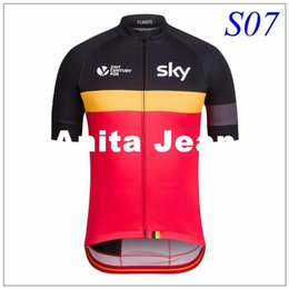 Wholesale Maillot Sky Pro Cycling - 2016 Pro Team sky Cycling Tops Summer Short sleeve quick-dry Cycling jerseys breathable cloth MTB Ropa Ciclismo Bicycle clothing maillot
