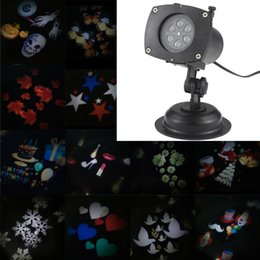 Wholesale Ghost Lamp - TOMSHINE christmas lights outdoor Halloween Christmas Projector Lamp Rotating LED 12 Patterns Pumpkin Ghost USEU AU UK