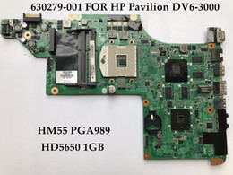 Wholesale Motherboard For Hp I3 - High quality laptop motherboard for HP Pavilion DV6-3000 630279-001 HM55 PGA989 Support I3 I5 CPU HD5650 1GB 100% Fully Tested