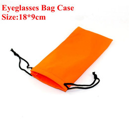 Wholesale Mp4 Glasses - Soft Eye Glasses Sunglasses Bags Cell Phone Carry Dust Pouch Case MP3 MP4 GPS PDA Holder Bags 100pcs 18*9cm Eyewear Accessories