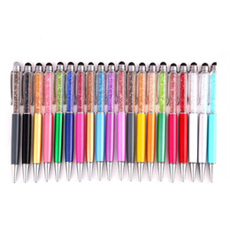 Wholesale Crystal Ball Point Stylus Pens - Bling Crystal Diamond Screen Capacitive Screens Touch Stylus Ball Point Pen For Apple IPad Nexus 7 Galaxy Tablet Kindle Cell Phones