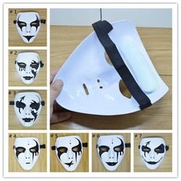 Wholesale Ghost Painting - Halloween Crazy Party Cool Masks School Masquerade Mask Hand Painted Hip-Hop Street Dancing Masks Ghost Decoration DHL 3-7 days