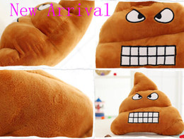 Wholesale New Baby Patchwork - New Arrival Cute Funny Emoji Poo Shape Throw Pillow Cushion Toy Doll Home Office Bedding Sofa Chair Fit for Baby