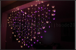 Wholesale Led Lights Marriages - 128 LED 2M*1.5M Marriage Room Decorated Heart-shaped Romantic Courtship Butterfly String Lights Flashing LED Christmas New Years Lighting