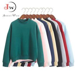 Wholesale Fleece Turtleneck Women - Wholesale- 2016 Autumn Winter Women Hoodies Casual Sweatshirt Pullover Candy Coat Jacket Outwear Tops Plus Size Fleece Loose tracksuit