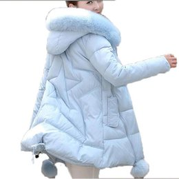 Wholesale Yellow Faux Fur Hooded Coats - Winter Jacket Women 2016 new Faux Fur Collar Hooded Down Parka Female Thicken Warm Outwear plus size Jackets And Coats AE1555