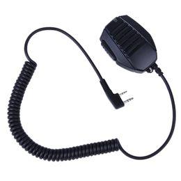Wholesale Kenwood Speaker Mic - 2 PIN Handheld Speaker Mic For Retevis KENWOOD BAOFENG UV5R H555 WOUXUN PUXING Radio J6372A cb radio yeasu MIC speaker