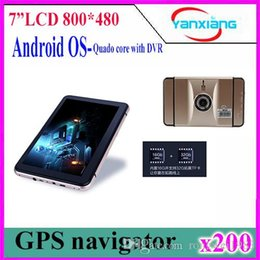 Wholesale Car Camera Usa - New 7 inch HD Android GPS Navigation Car dvrs Camera Recorder Russia Belarus Kazakhstan Europe USA+Canada Truck vehicle 200pcs ZY-DVR-001