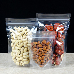Wholesale Plastic Snack Bag - Transparent self sealing bag 100pcs lot Hight Quality Zipper Lock Packing Bags for Retail Packages of Nut Snacks Phone Case