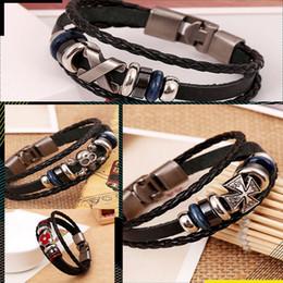 Wholesale Metal Wristbands For Men - Wholesale-1 pc Unisex Cool Bracelet Punk Style for Women Men Wristband Metal Studded Leather Bracelet Hot Selling