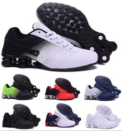 Wholesale Top Brands China - Top Air Shox Deliver Running Shoes Men Man Men's Blue Shoxs NZ Current Trainers Shoes Authentic Zapatilla Homme China Brand Sports Sneakers