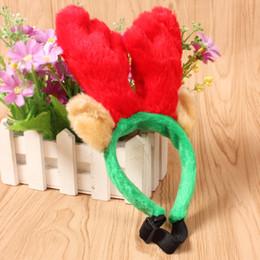 materiali di decorazione Sconti Carino Pet Renna di Natale Antlers Fascia Party Prop Ornamenti Per Cane Gatto Breve decorazione materiale peluche regali