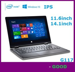 Wholesale Touch Screen Laptop Notebook Computers - 11.6 inch laptop G117 Quad core Intel 2GB 64GB Windows 10 touch screen portable notebook computer intel hd screen