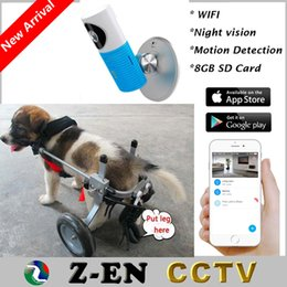 Wholesale Ip Camera Wireless Internet Card - Wireless Baby Monitor 720 Wifi IP Camera 8GB SD Card IR CCTV Security Via Smart Phone With S Dog Wheelchair Free Walk Support