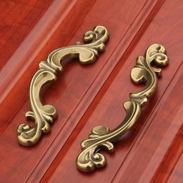 Wholesale Cabinet Solid - European Style Door Handle Retro Shoe Wardrobe Cabinet Handles Hardware Furniture Solid Drawer Knobs