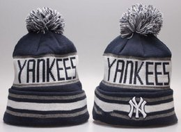 Wholesale Cool Winter Beanies - New yankees beanies sports teams hats top quality wool cap brand winter cool beanies best women hats yp