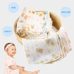 Wholesale Gauze Muslin Cloth - Wholesale- 1Pc Baby New Born Boys Girls Gauze Muslin Square Cotton Feeding Bath Facecloth Handkerchief Wash Cloths Bibs Towel 31*31