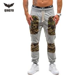 Wholesale Male Camouflage Pants - Wholesale-Mens Joggers Male Trousers Men Pants Mallas Hombre Stitching Camouflage Pants Sweatpants Jogger Pantalones 2XL