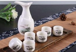Wholesale Pottery Decorations - room decoration Home Ankoow Chinese Tea Pot Handmade Pottery Porcelain Sake