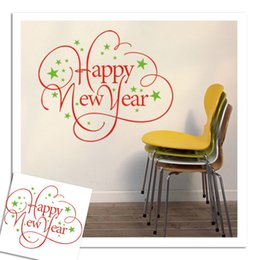 Wholesale Deco Mural Wall Sticker - Happy New Year Christmas Wall stickers Decal Removable Mural Deco Window Vinyl- xmas07