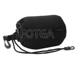 Argentina Gran venta ! Venta al por mayor FOTGA Soft Neoprene Matin DSLR Lens Bag L tamaño w / gancho PARA Nikon Canon Panasonic Suministro