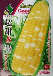 Wholesale Fresh Corn - Super sweet corn seeds 8 vegetable seeds Fresh corn seed 30 g color package