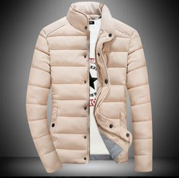 Wholesale Korean Button Down - 2016 autumn and winter the new Korean version of the men's cotton-padded jacket solid color fashion Slim direct wholesale or retail