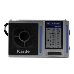 2016 Nuova Mini stazione radio AM FM 2 Band Radio portatile tascabile analogica Mini Broadcasting con altoparlante incorporato cheap pocket station da stazione di tasca fornitori