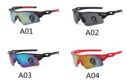 Wholesale Colorful Glasses For Men - 2016 hot sales sunglasses for men summer outdoor cycling climbing Colorful running Colorful cool glasses Only SUN glasses free shipping
