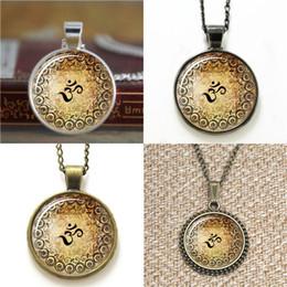 Wholesale Glasses Design Bracelet - 10pcs Zen Henna Design Om Yoga Jewelry Om Pendant Necklace keyring bookmark cufflink earring bracelet