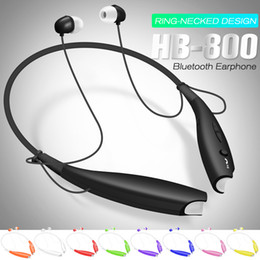 Wholesale Earphones Mic Retail - HB 800 Wireless Bluetooth Earphone Stereo Headset Sport Neckband Earbuds For HB800 Mic Headphone with Retail Package