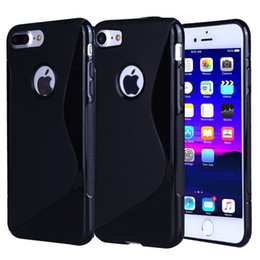 Wholesale Iphone Silicone S Line - 7 Plus Case iphone7 Silicone S Line TPU Phone Cases For Samsung S6 S7 Cover Soft Matte Protective Mobile Phone Bag