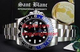 2019 bracelets style homme 2 Styles Top Qualité Luxe Hommes Montre GMT II Céramique 116710 Noir Bleu En Acier Inoxydable Bracelet Automatique Mécanique Hommes Montre Montres promotion bracelets style homme