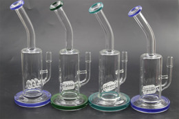 Wholesale Glass Artworks - 2018 New Unique Artwork Glass Water Pipe Bong With 24cm Height 14.5mm Joint Bongs Water Pipes Percolator for Smoking