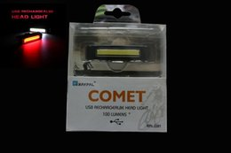 Wholesale Comet Tail Light - Comet USB Rechargeable Head  Tail Light COB High Brightness Red LED 100LM Cycling Bicycle Front Rear Bike Safety Warning Lights