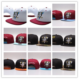 Wholesale Hockey Fitted Hats - Top Selling 2017 NHL Mighty Hockey Snapback Hats Anaheim Ducks bone cap Flat Fashion nhl Hats sports Cheap mens & women baseball caps