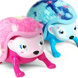 Wholesale Eye Curling - Interactive Hedgehog with Multi-modes Lights Sounds Sensors Light-up Eyes Wiggy Nose Walk Roll Headstand Curl up Giggle Toys for Kids