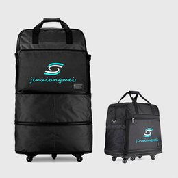 Wholesale Wheeled Bag Foldable - Wholesale-High Quality 3 Layers Check-in Luggage Travel Bags Large Capacity Rolling Luggage Bag Foldable Spinner Wheels Travel Suitcase
